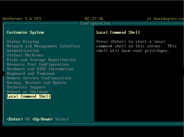 Local Command Shell